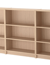 BILLY Bookcase, white stained oak veneer 240x28x106 cm - Online Shop Buy Now