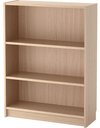 BILLY Bookcase, white stained oak veneer 80x28x106 cm - Online Shop Buy Now