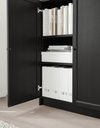 BILLY / OXBERG Bookcase with doors, black-brown  80x30x106 cm - Online Shop Buy Now