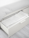 BRIMNES Bed frame with storage, white, 150x200 cm - Online Shop Buy Now