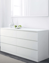 MALM Chest of 6 drawers, white 160x78 cm - Online Shop Buy Now