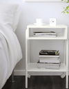 SETSKOG Bedside table, white, 45x35 cm - Online Shop Buy Now