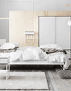 TRYSIL Bed frame, white, light grey, 150x200 cm - Online Shop Buy Now