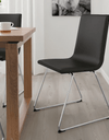 VOLFGANG Chair, chrome-plated, Bomstad black - Online Shop Buy Now