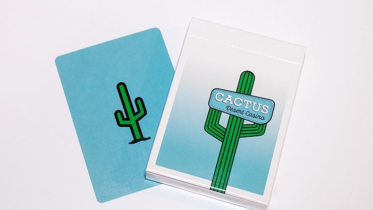 Cactus (Dusty Blue) Playing Cards - Merchant of Magic
