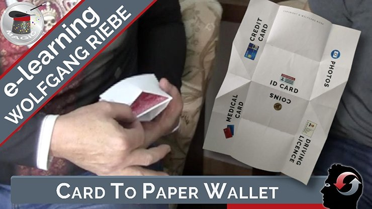 Card to Paper Wallet by Hans Trixer/Wolfgang Riebe Mixed Media DOWNLOAD - Merchant of Magic