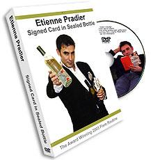 Etienne Pradier Signed Card in Sealed Bottle, DVD - Merchant of Magic