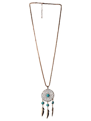 BloggersFavorites Golden Dreamcatcher Long Necklace