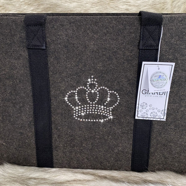 Bling Felt Shopping Tote Bag