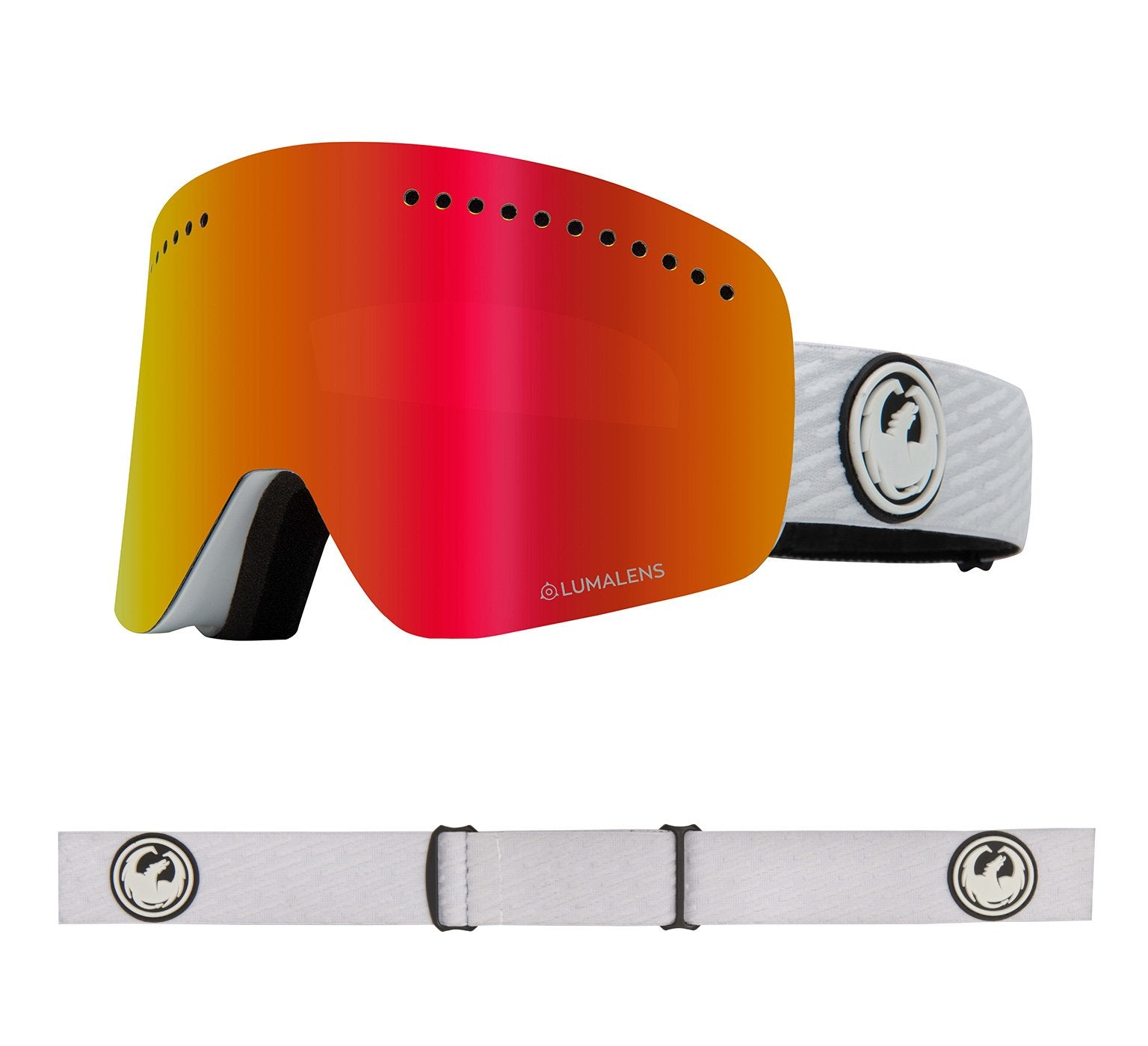 NFX - PK White ; with Lumalens Red Ionized & Lumalens Pink Ionized Lens