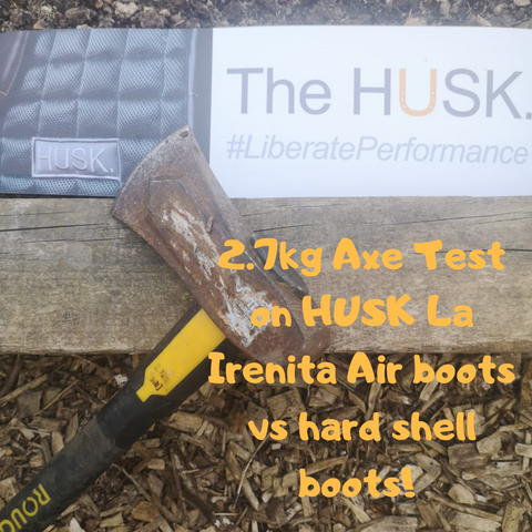 2.7kg Axe Test on #HUSK boots vs Competition