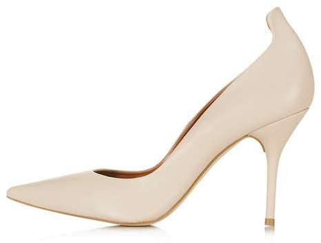 Topshop Giddy curve tab court shoes
