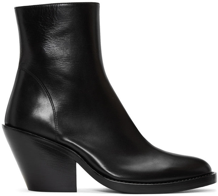 Ann Demeulemeester Black Leather Boots