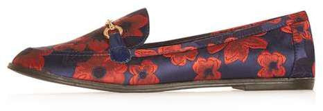 Topshop Lucy loafer print