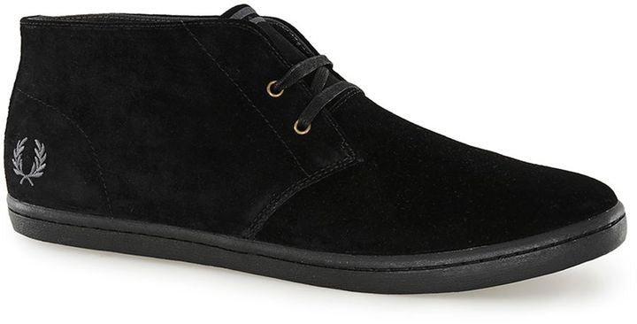 Fred Perry Black Suede Mid Boots
