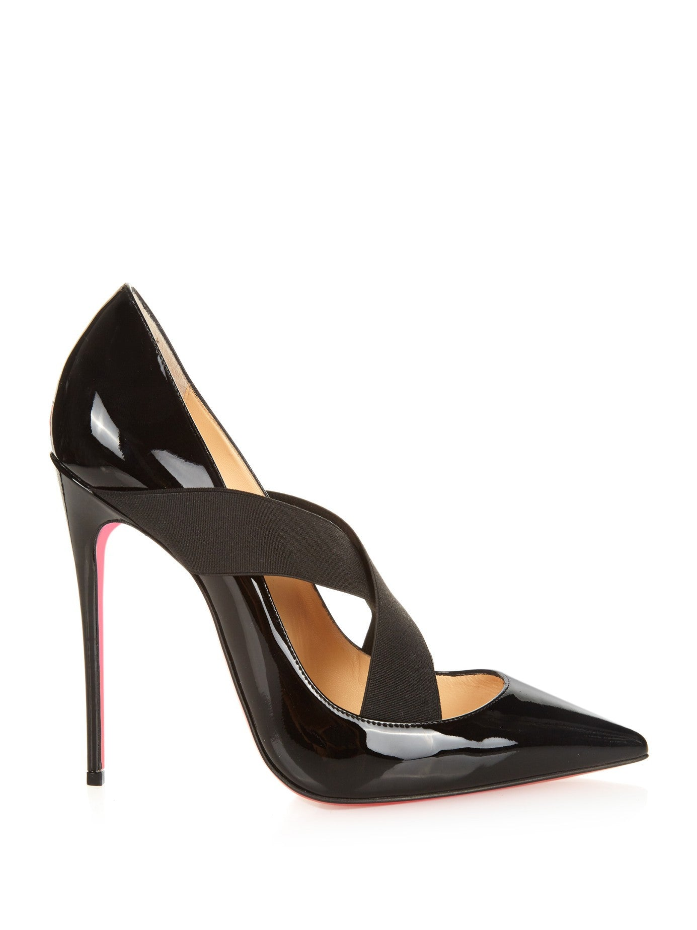 MatchesFashion Christian Louboutin Sharpstagram 120mm Patent Leather Pumps