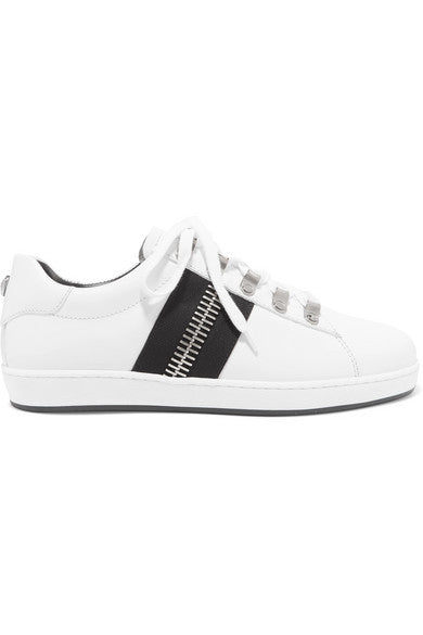 Balmain Esther zip-embellished leather sneakers