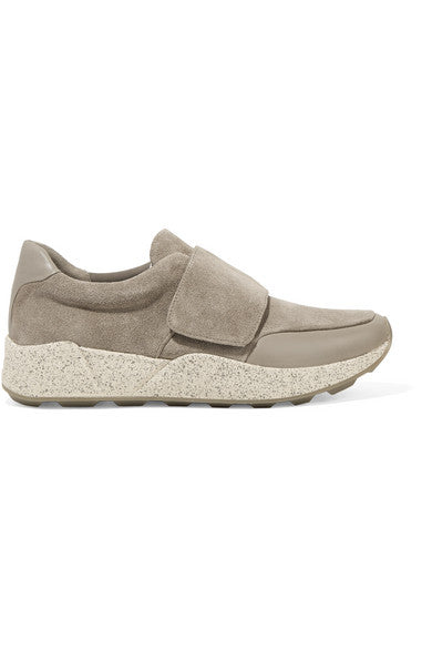 Vince Gage leather-trimmed suede sneakers