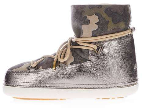 Topshop Inuikii camouflage ankle boots