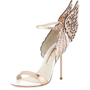 Sophia Webster Evangeline Angel Wing Sandal, Rose Gold/White