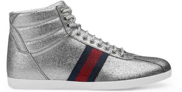 Gucci Glitter Web high-top sneaker