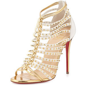 Christian Louboutin Millaclou Studded-Cage Red Sole Sandal