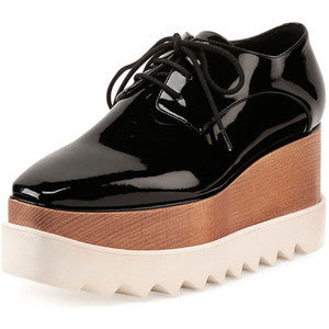 Stella Mccartney Faux-Patent Lace-Up Loafer