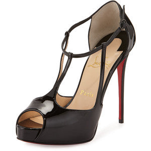 Christian Louboutin Colibretta Multi-Strap Red Sole Pump