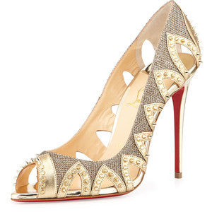 Christian Louboutin Circus City Spiked Red Sole Pump