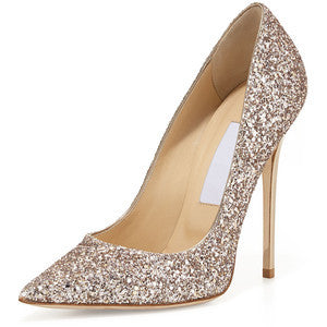 Jimmy Choo Abel Glitter Pointed-Toe Pump