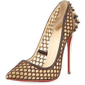 Christian Louboutin Guni Knotted 100mm Red Sole Pump
