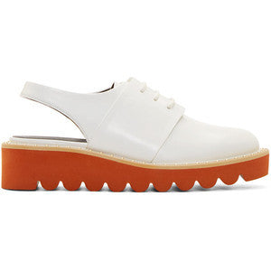 Stella McCartney White Sling-Back Derbys