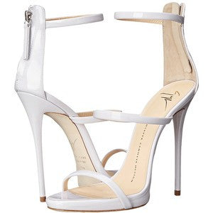 Giuseppe Zanotti High Heel Back-Zip Three-Strap Sandal Women's Shoes
