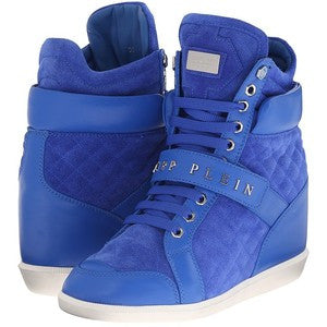 Philipp Plein High Top Sneaker (Blue) Women's Lace up casual Shoes