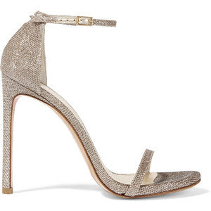 Stuart WeitzmanNudist Metallic Mesh Sandals