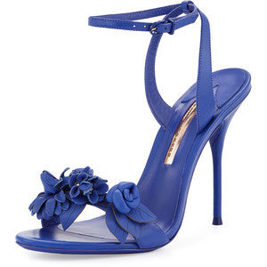Sophia Webster Lilico Floral Leather Sandal, Royal