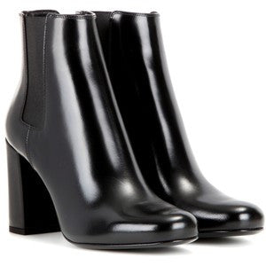 Saint Laurent Babies 90 Leather Ankle Boots