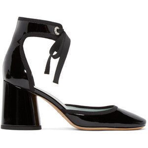 Marc Jacobs Black Patent Leather Elle Heels