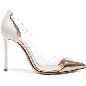 Gianvito Rossi Leather Plexi Pumps
