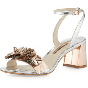 Sophia Webster Lilico Floral Leather Mid-Heel Sandal