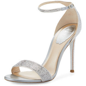 Rene Caovilla Crystal Ankle-Wrap 105mm Sandal
