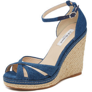 L.K. Bennett Litya Jean Wedge Sandals