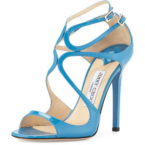 Jimmy Choo Lang Patent Strappy 100mm Sandal