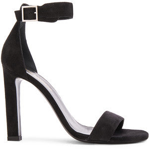 Saint Laurent Suede Grace Ankle Strap Heels