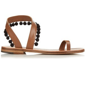 Álvaro Angela pompom embellished leather sandals
