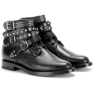 Saint Laurent Rangers Leather Ankle Boots