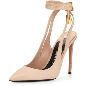 Tom Ford Leather Ankle-Lock 105mm Pump