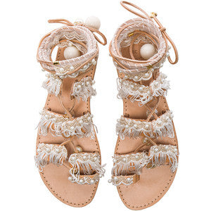 Elina Linardaki Leather Ever After Sandals