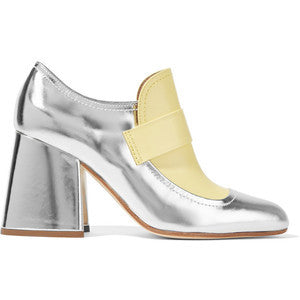 Marni Metallic leather two-tone pumps
