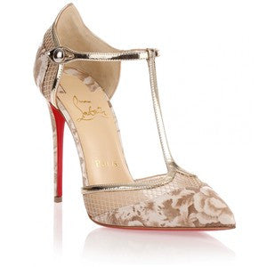 Christian Louboutin Mrs Early beige T-bar pump